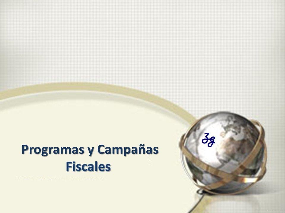 Programas y Campañas Fiscales