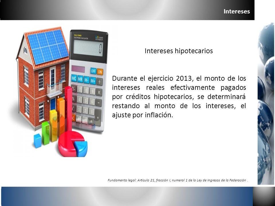 Intereses hipotecarios