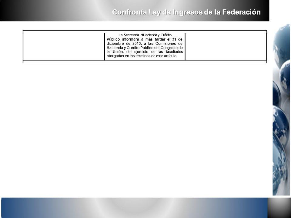 La Secretaría de Hacienda y Crédito