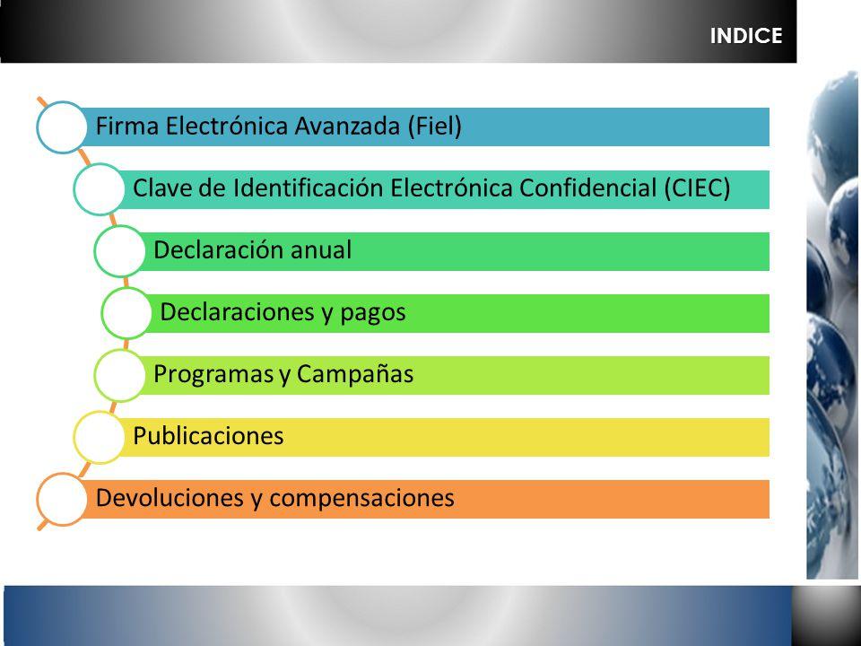 INDICE Firma Electrónica Avanzada (Fiel)