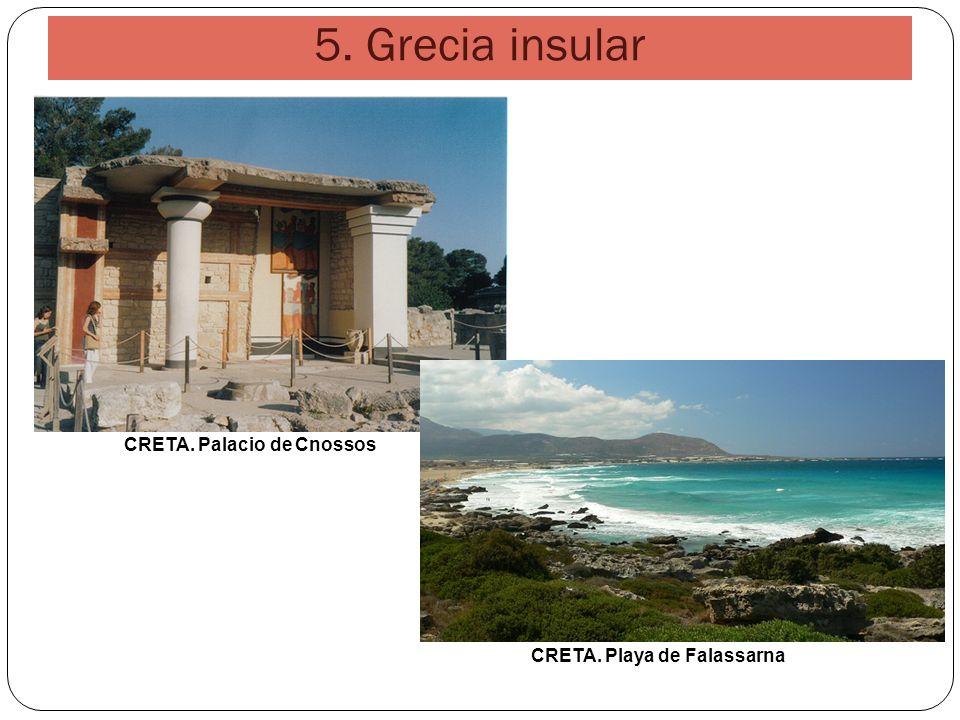 CRETA. Palacio de Cnossos CRETA. Playa de Falassarna