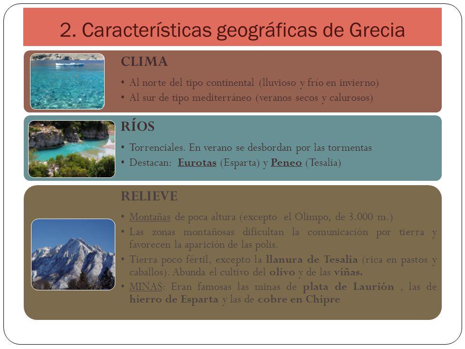 2. Características geográficas de Grecia