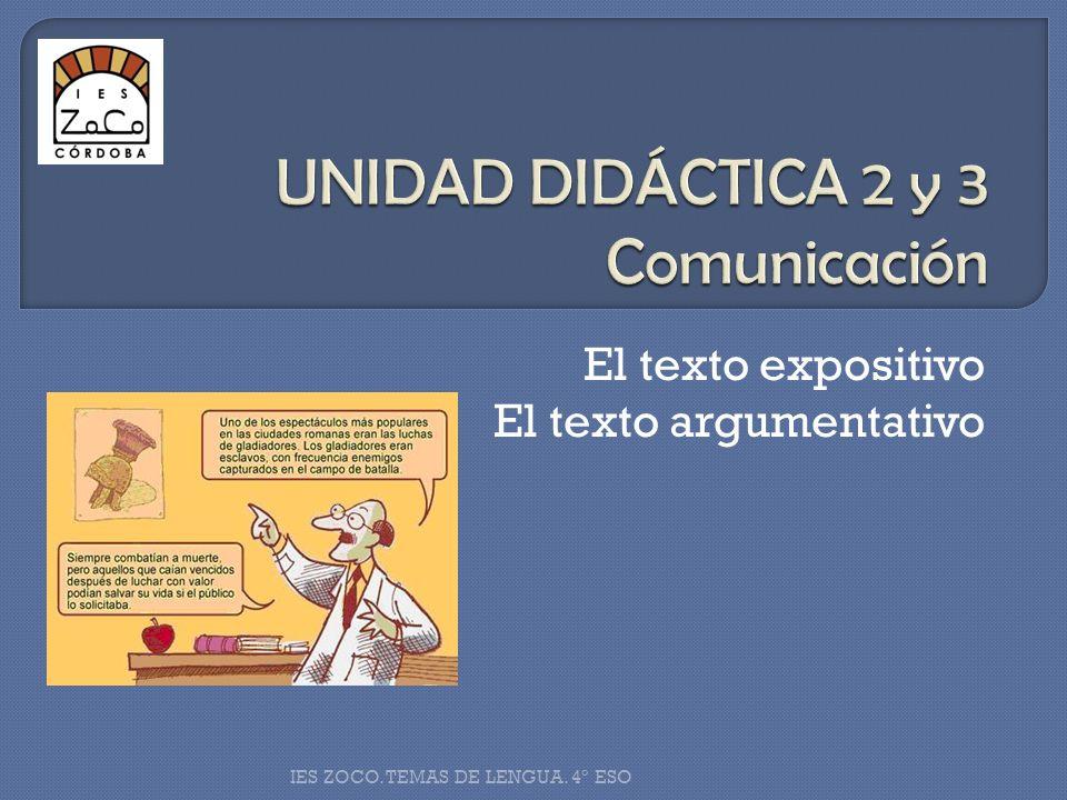 UNIDAD DIDÁCTICA 2 y 3 Comunicación