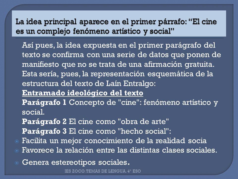 Parágrafo 1 Concepto de cine : fenómeno artístico y social.