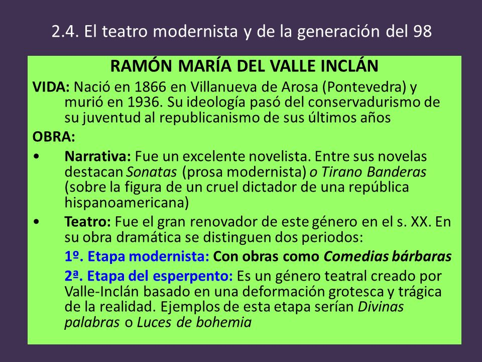 RAMÓN MARÍA DEL VALLE INCLÁN