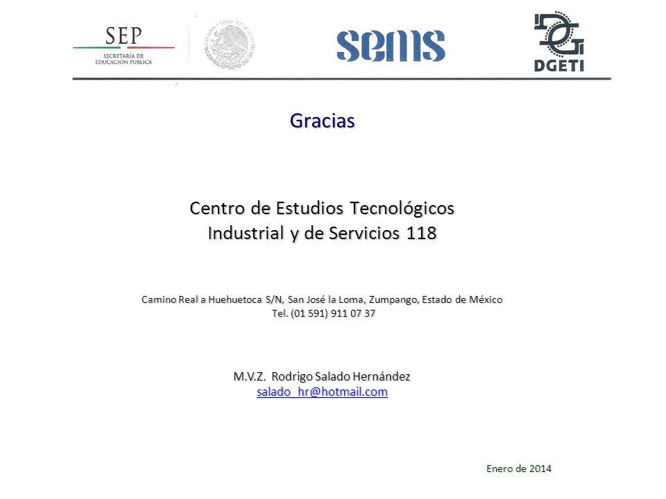Gracias Centro de Estudios Tecnológicos Industrial y de Servicios 118