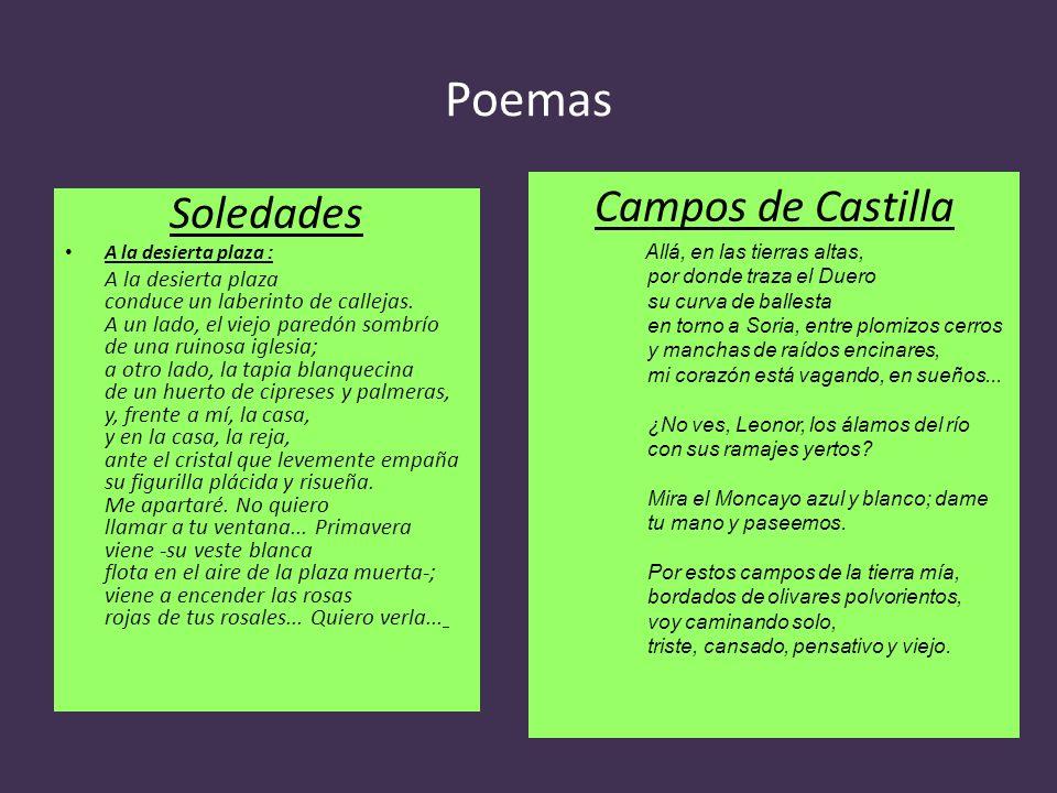 Poemas Campos de Castilla Soledades