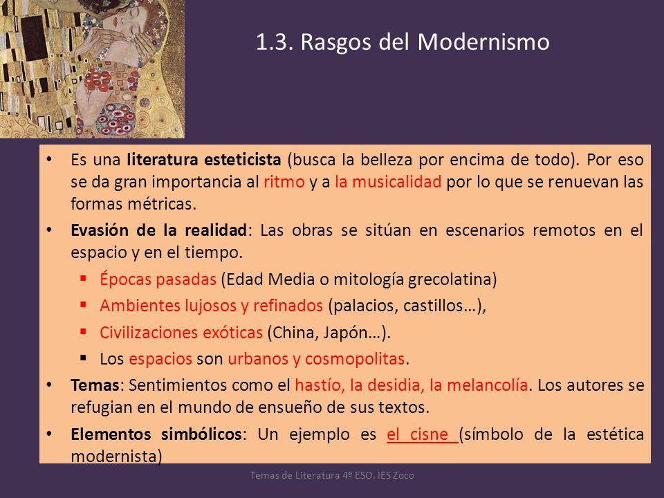Temas de Literatura 4º ESO. IES Zoco