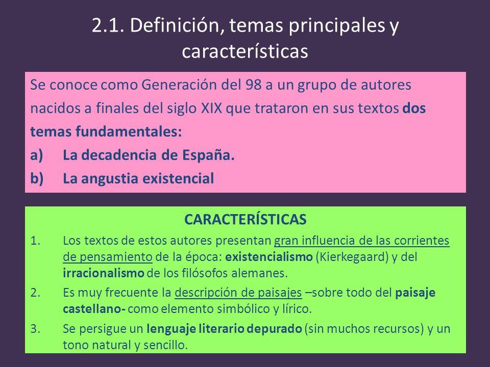 2.1. Definición, temas principales y características