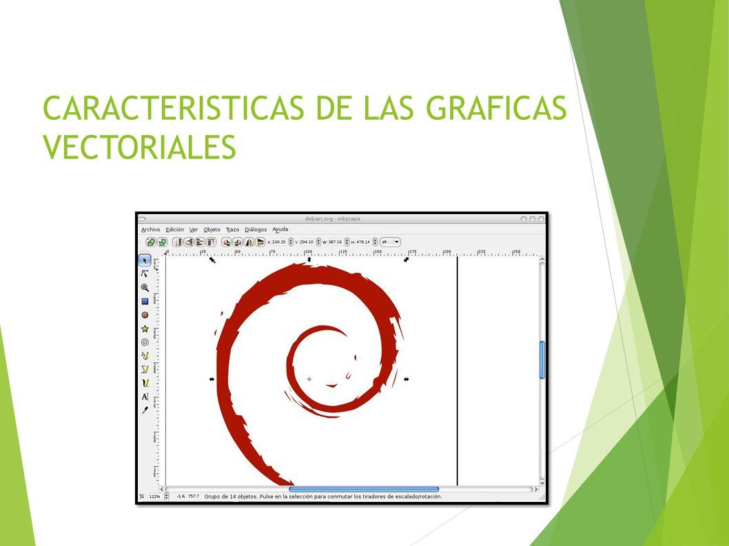 CARACTERISTICAS DE LAS GRAFICAS VECTORIALES