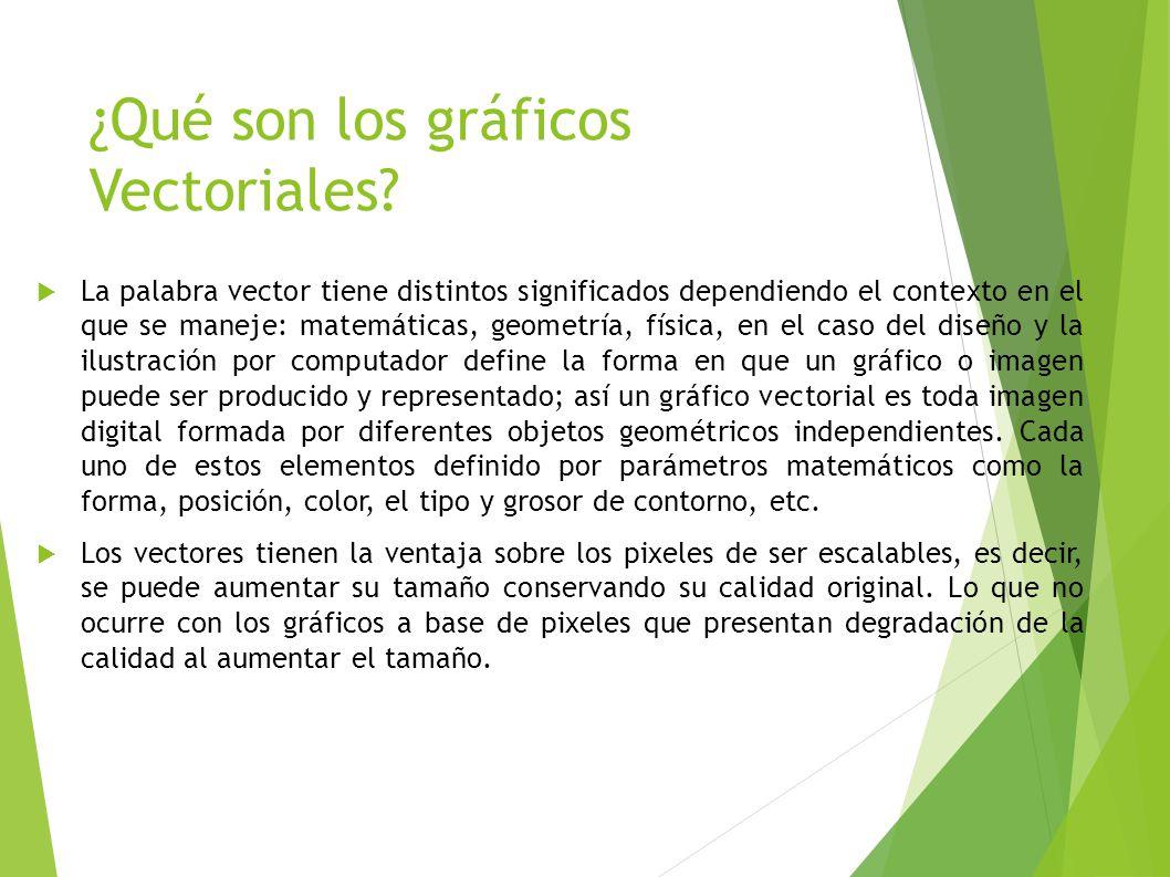 ¿Qué son los gráficos Vectoriales
