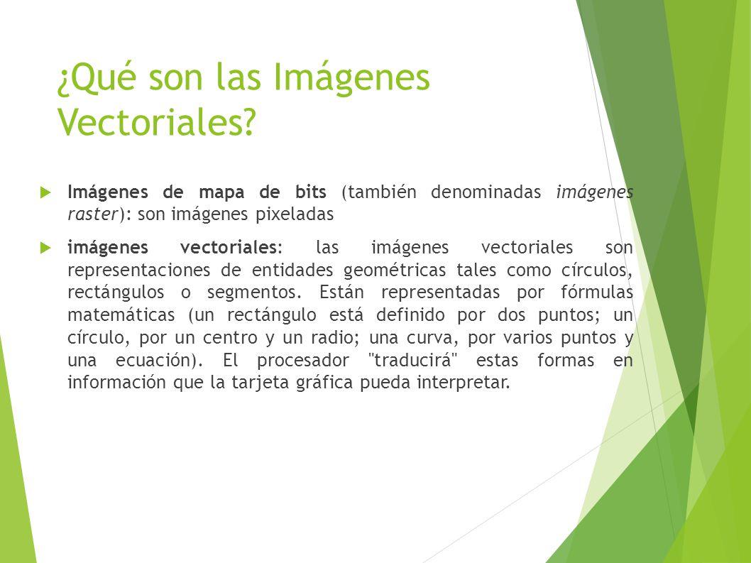 ¿Qué son las Imágenes Vectoriales