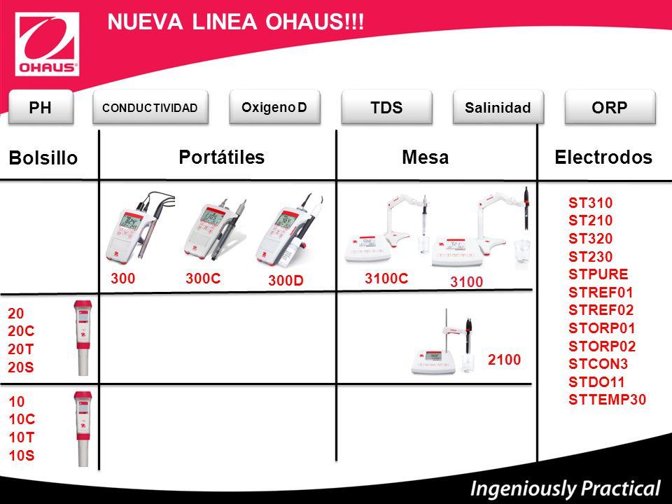 NUEVA LINEA OHAUS!!! Bolsillo Portátiles Mesa Electrodos PH TDS ORP