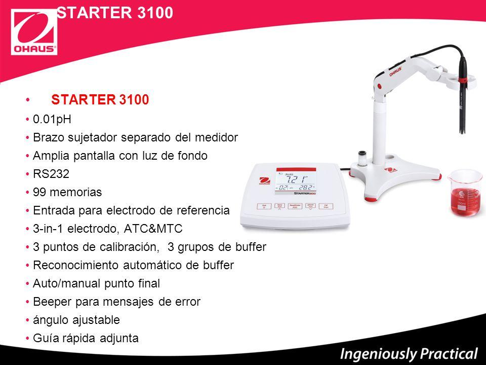 STARTER 3100 STARTER 3100 0.01pH Brazo sujetador separado del medidor