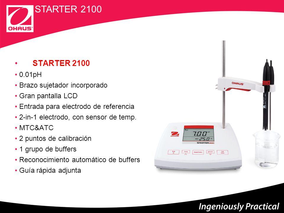 STARTER 2100 STARTER 2100 0.01pH Brazo sujetador incorporado