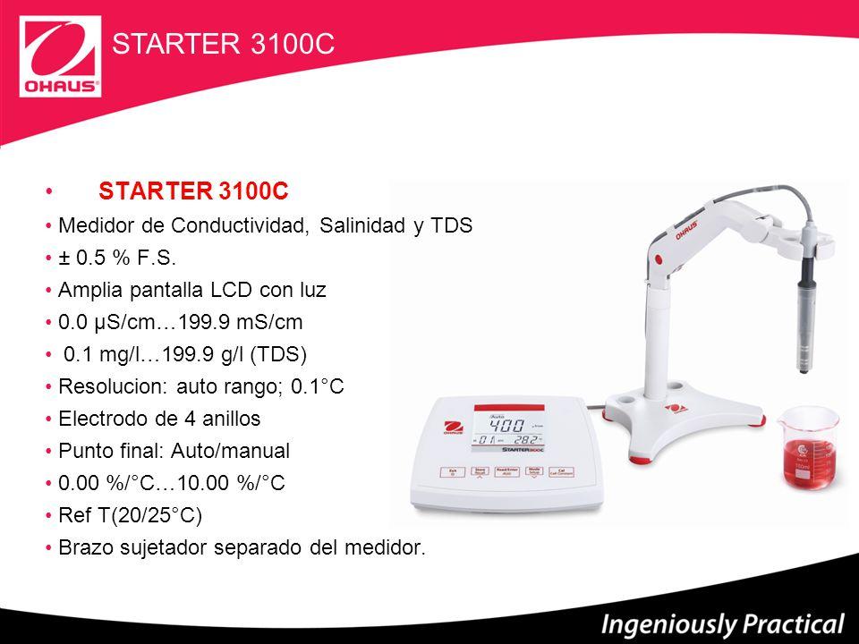 STARTER 3100C STARTER 3100C Medidor de Conductividad, Salinidad y TDS