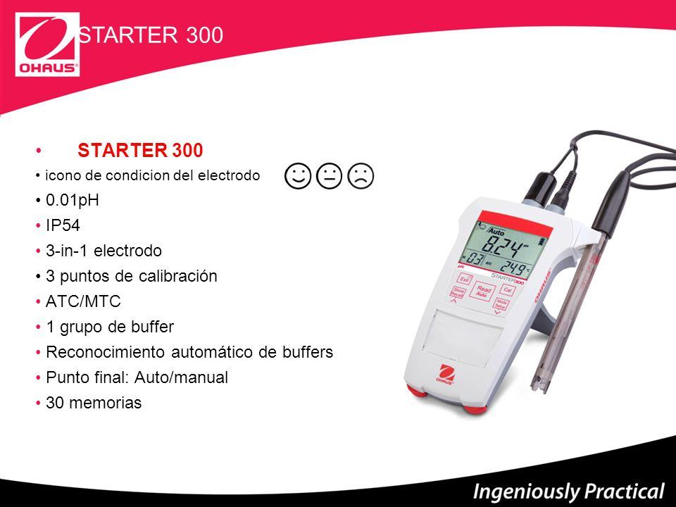 STARTER 300 STARTER 300 0.01pH IP54 3-in-1 electrodo