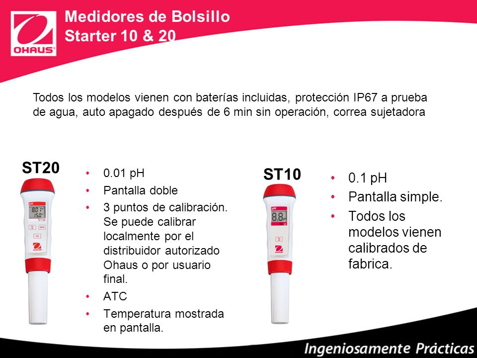 Medidores de Bolsillo Starter 10 & 20