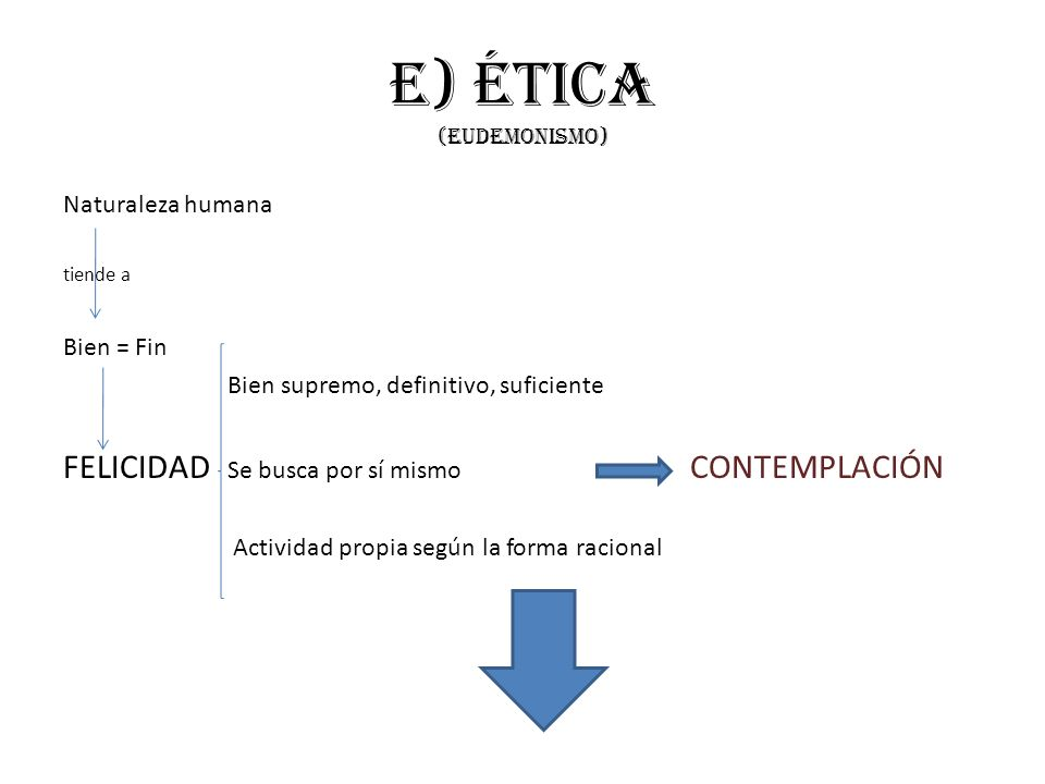 e) Ética (eudemonismo)