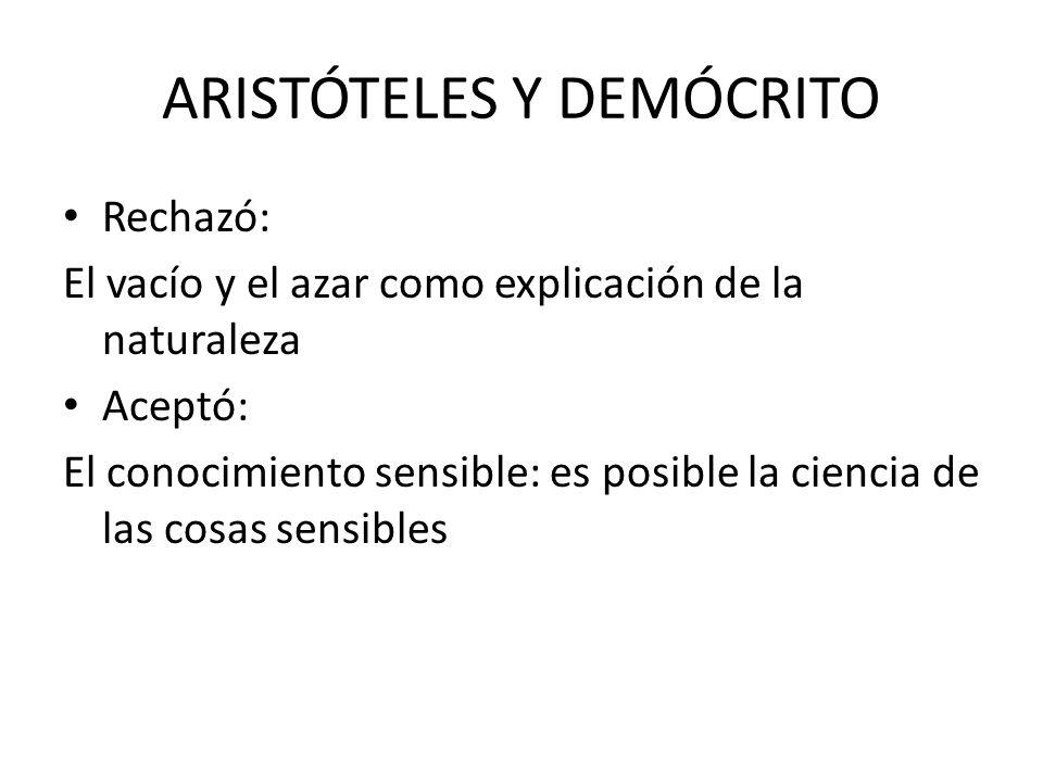 ARISTÓTELES Y DEMÓCRITO