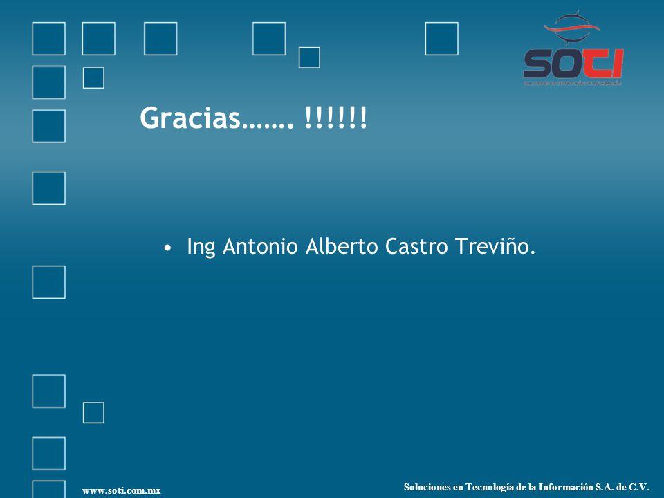 Gracias……. !!!!!! Ing Antonio Alberto Castro Treviño.