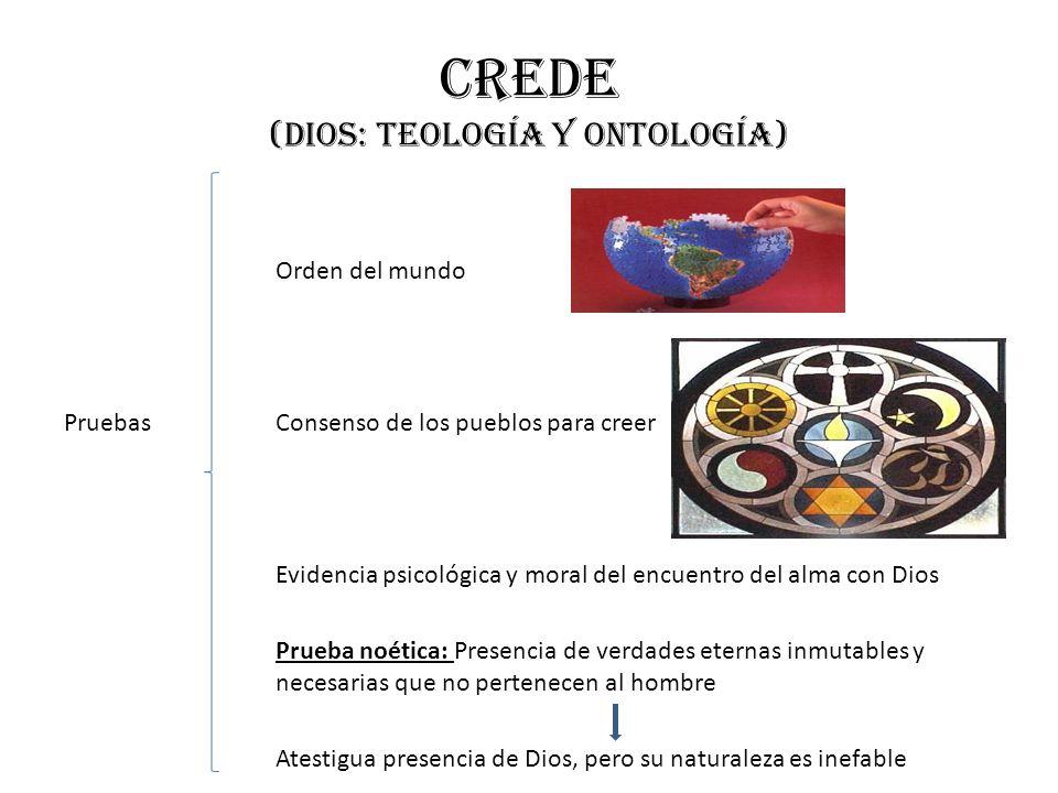 Crede (dios: teología y ontología)