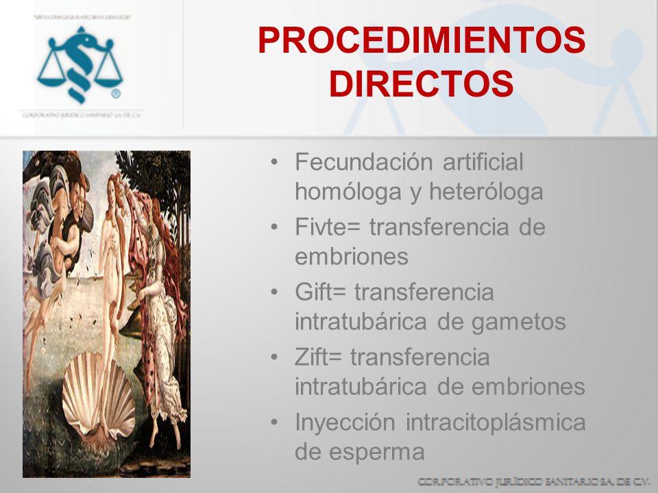 PROCEDIMIENTOS DIRECTOS