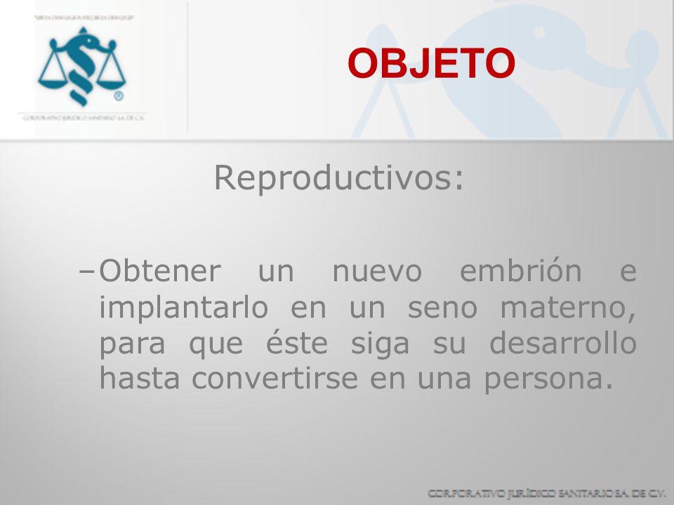 OBJETO Reproductivos: