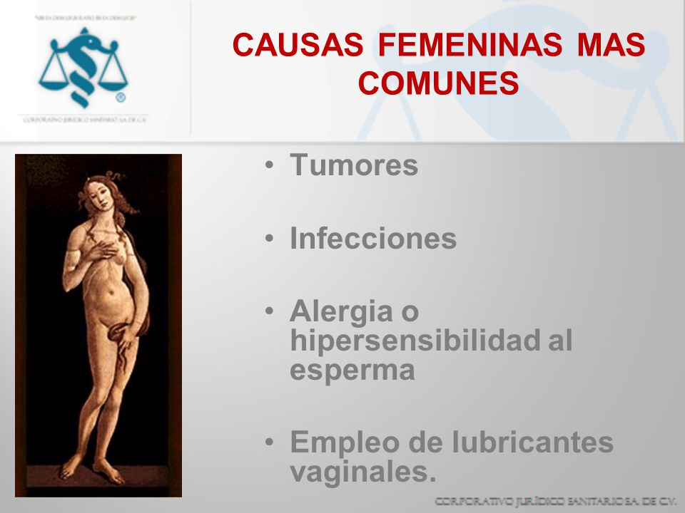 CAUSAS FEMENINAS MAS COMUNES