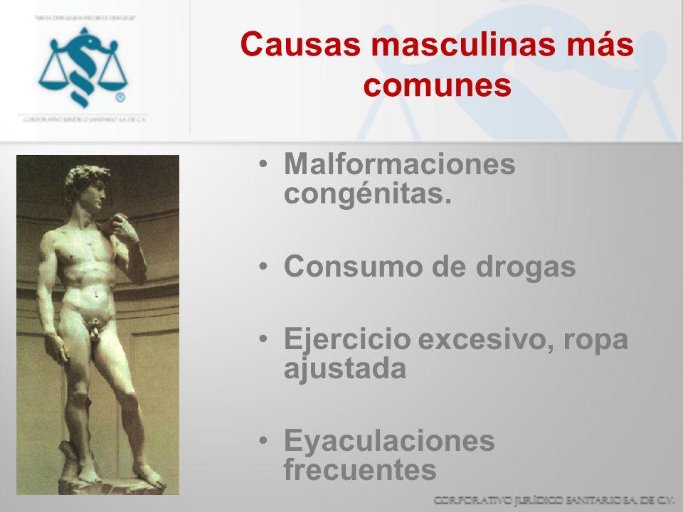 Causas masculinas más comunes