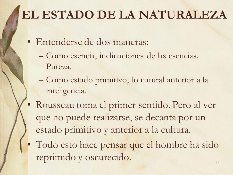 EL ESTADO DE LA NATURALEZA