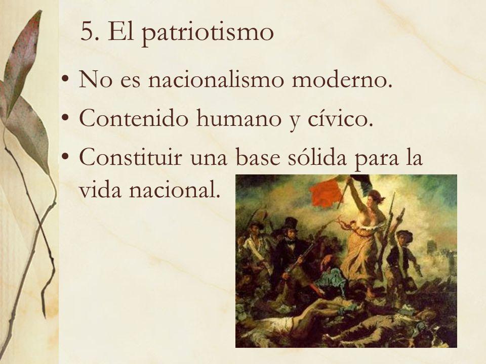 5. El patriotismo No es nacionalismo moderno.