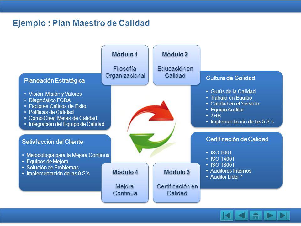 Ejemplo : Plan Maestro de Calidad