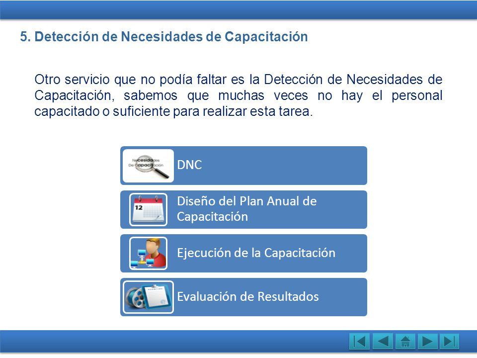 5. Detección de Necesidades de Capacitación