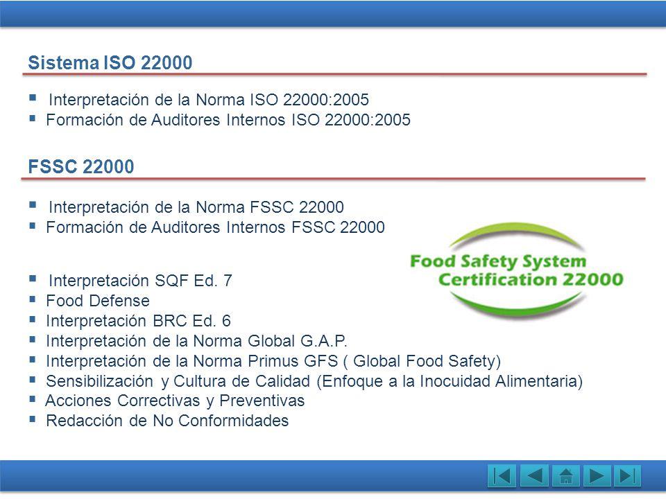 Interpretación de la Norma ISO 22000:2005