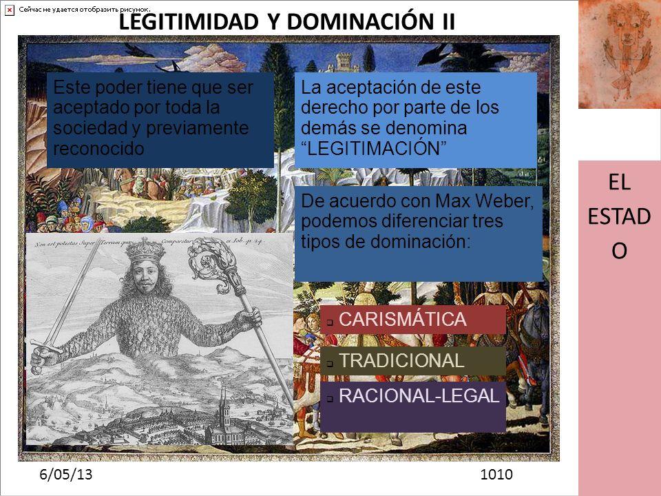 LEGITIMIDAD Y DOMINACIÓN II