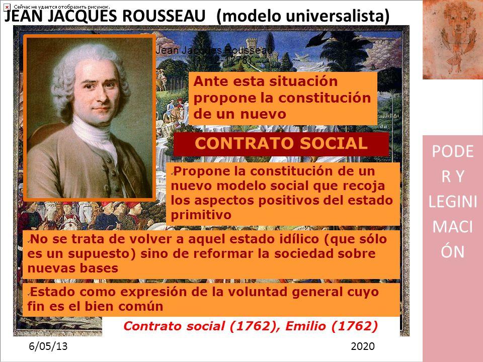 Contrato social (1762), Emilio (1762)