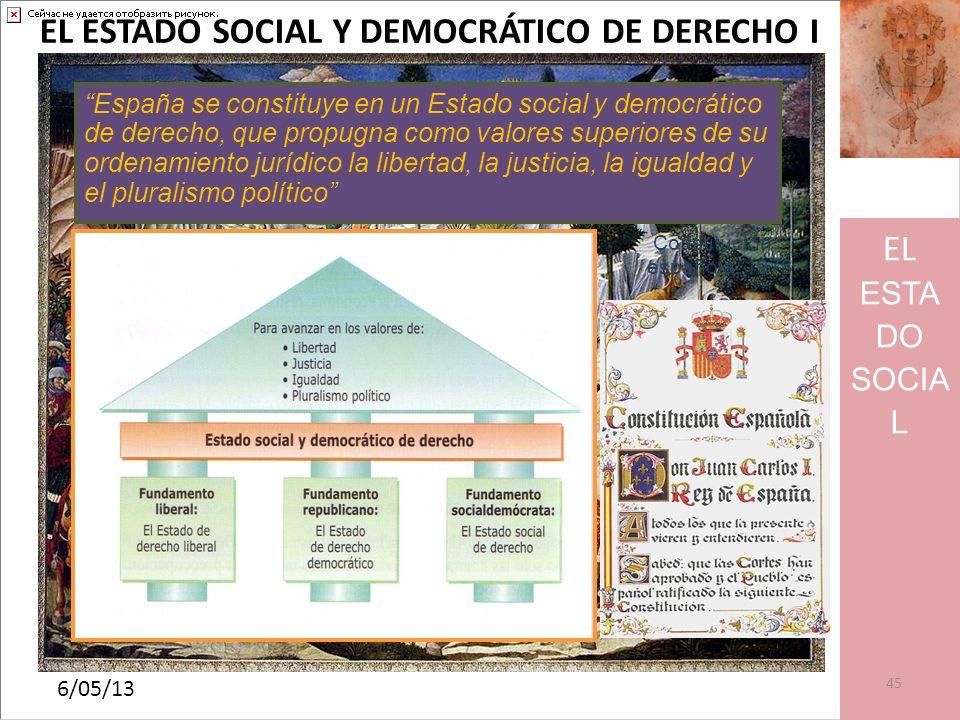 EL ESTADO SOCIAL Y DEMOCRÁTICO DE DERECHO I