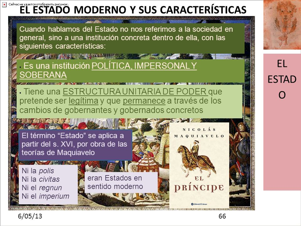 EL ESTADO MODERNO Y SUS CARACTERÍSTICAS