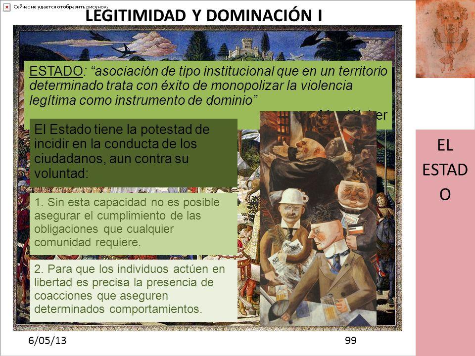 LEGITIMIDAD Y DOMINACIÓN I