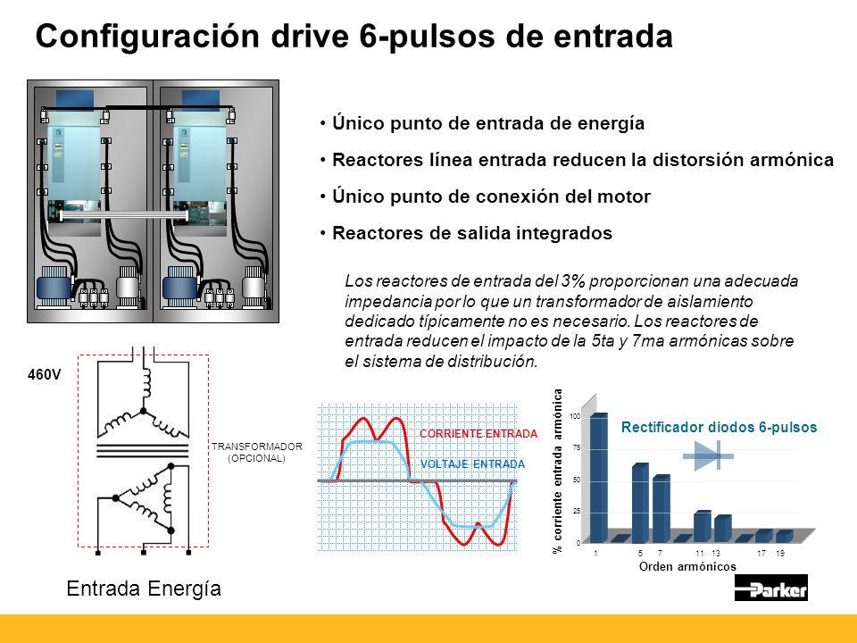 Configuración drive 6-pulsos de entrada