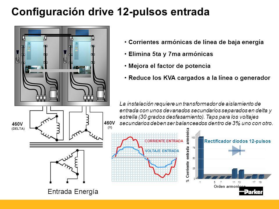 Configuración drive 12-pulsos entrada