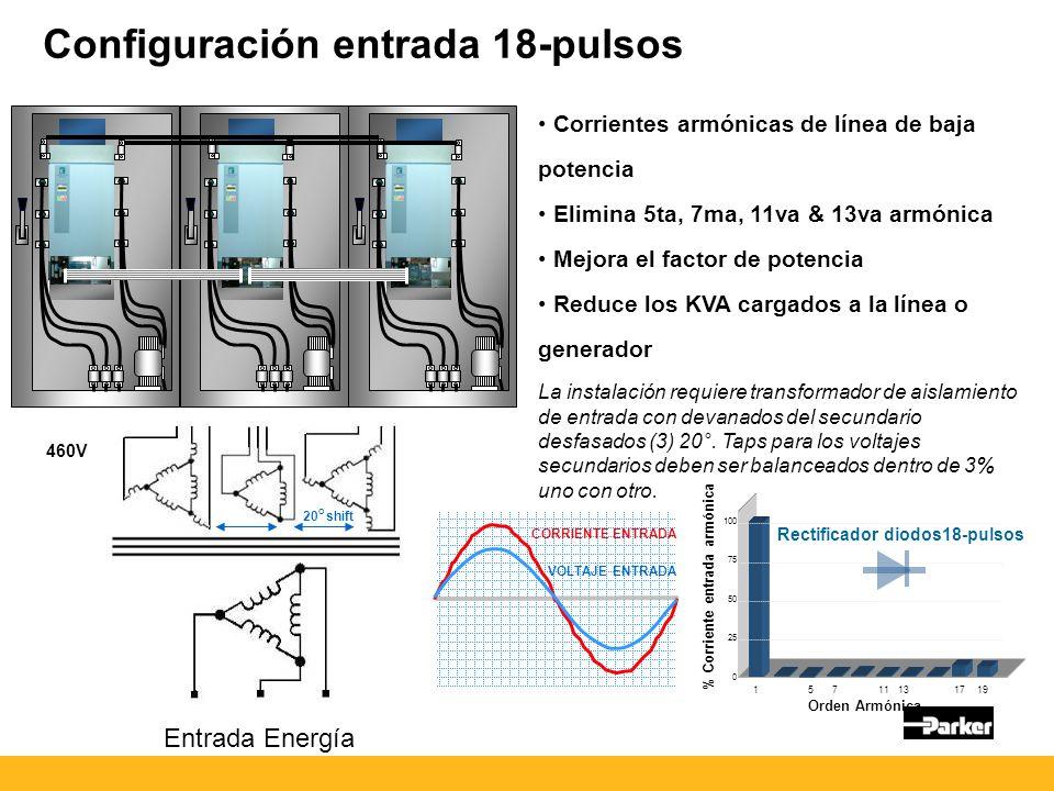 Configuración entrada 18-pulsos