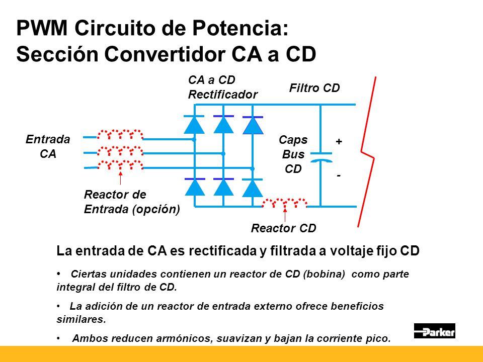 PWM Circuito de Potencia: Sección Convertidor CA a CD