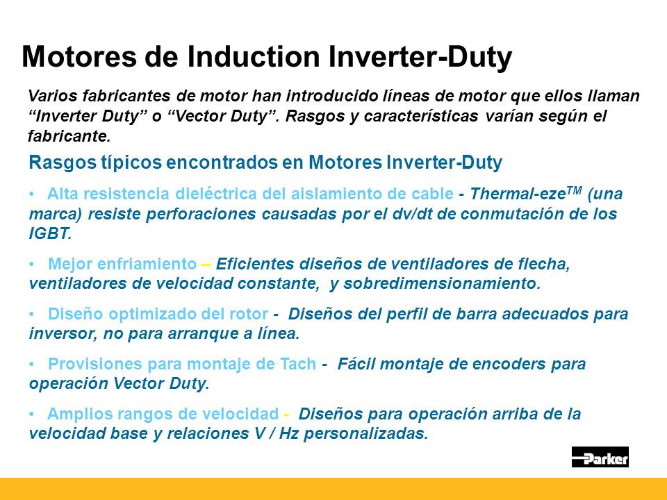 Motores de Induction Inverter-Duty