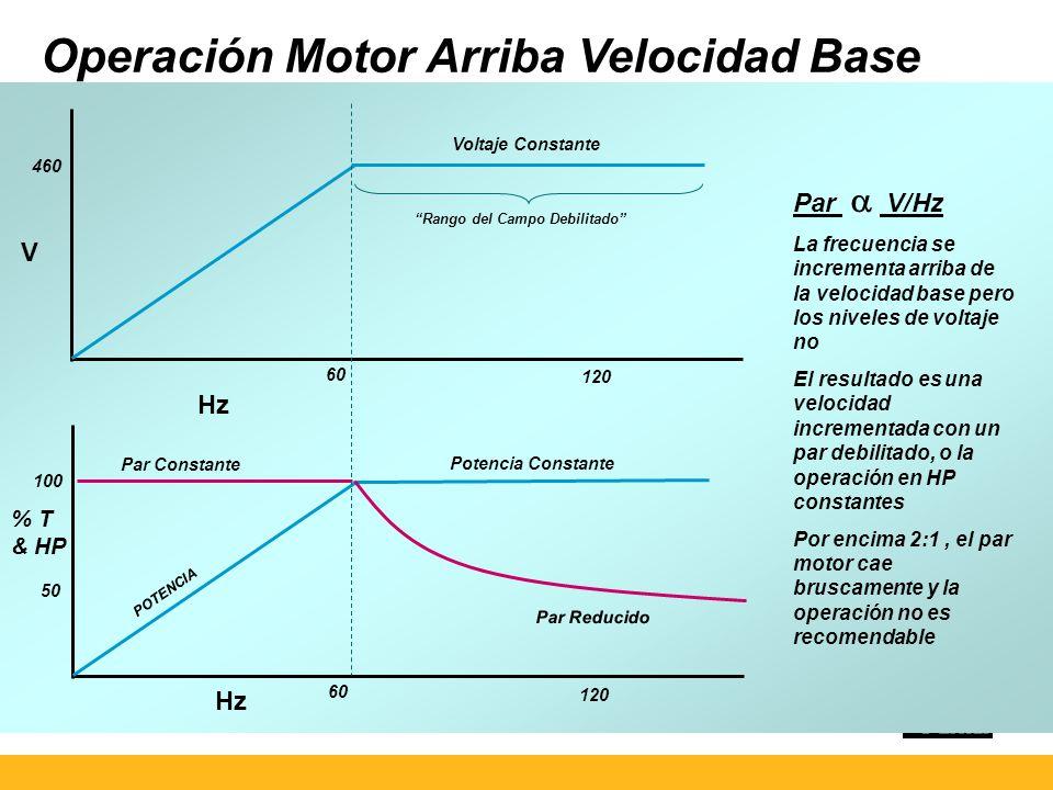 Operación Motor Arriba Velocidad Base