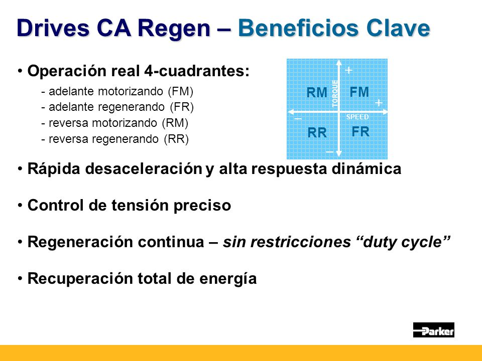 Drives CA Regen – Beneficios Clave
