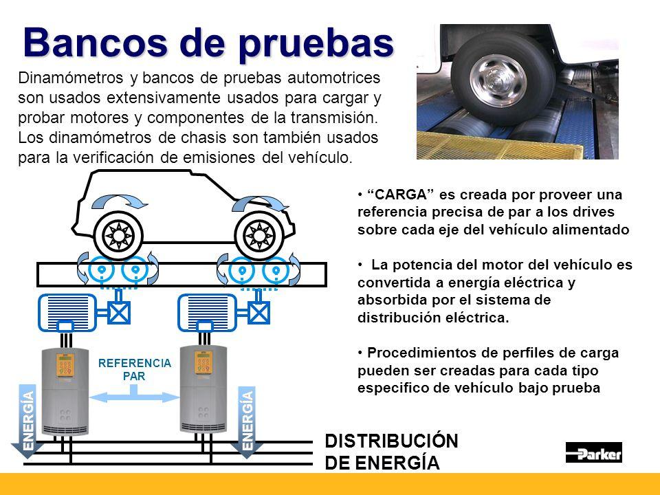 Bancos de pruebas DISTRIBUCIÓN DE ENERGÍA