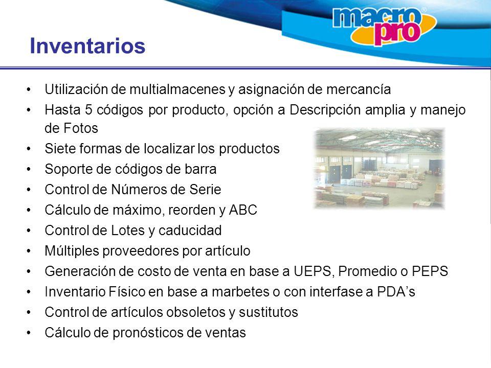 Inventarios Utilización de multialmacenes y asignación de mercancía