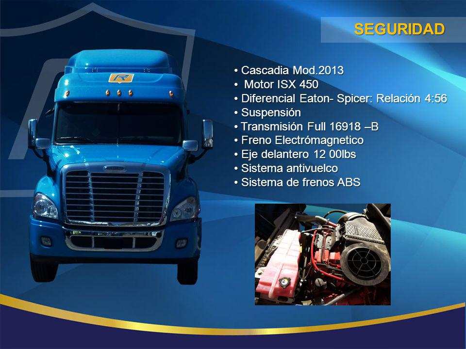 seguridad Cascadia Mod.2013 Motor ISX 450